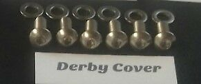Stainless steel Derby Cover screws Harley Sportster  XL883 & XL1200. 2004 - up.