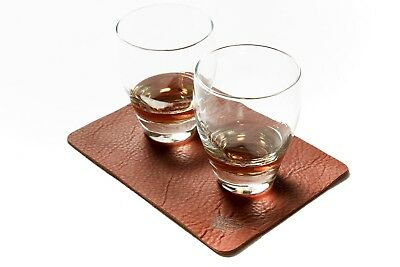 Leather Whiskey Mat  by Winding Wheel Supply