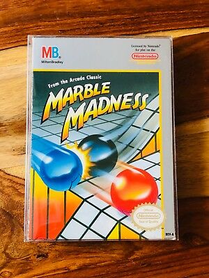 Marble Madness Nintendo NES  CIB Complete Box Manual Cart GOOD Condition