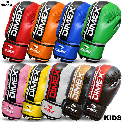 NEW Kids Boxing Gloves Punch Bag Mitts Sparring Glove Children Training 4oz,6oz