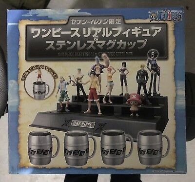 Rare One Piece Real Figure /& Stainless Steel Mug Seven Eleven Limited