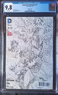 Superman Unchained (2013 DC) #7 Sketch Variant CGC 9.8 1:100