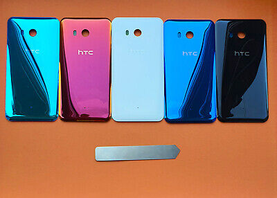 New Htc U11 Rear Battery Back Door Glass Cover Housing Adhesive