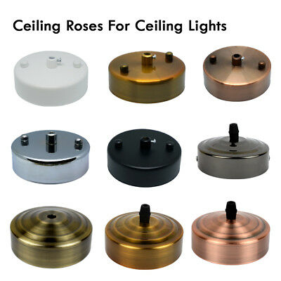 SINGLE POINT DROP OUTLET CEILING ROSE 100 x 30mm Perfect for fabric flex cable