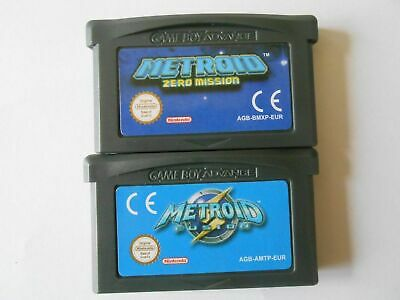 Metroid: Zero Mission / Fusion Cartridge Card For Game Boy Advance GBA NDS NDSL