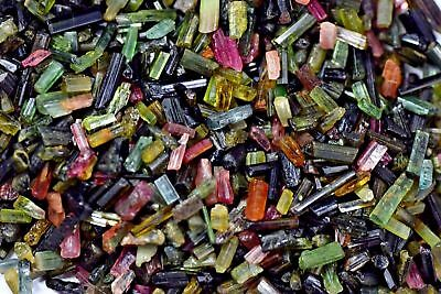 Natural 100-200 ct Bi-Color Tourmaline Gemstone Untreated Mozambique Lot Rough .