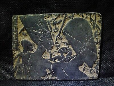 EGYPTIAN ANTIQUE ANTIQUITIES Akhenaten With Family Stela Relief 1352-1335 BCE