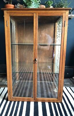 Antique Glass Shop Display Cabinet