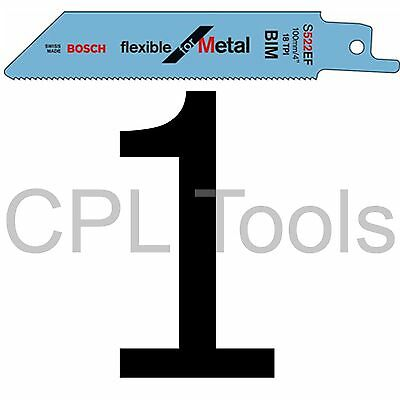 "1 Bosch S522EF Reciprocating Sabre Saw Blade 100mm 4"" for THIN SHEET METAL"