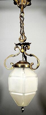Antique French Gilt Metal Pendant Ceiling Light