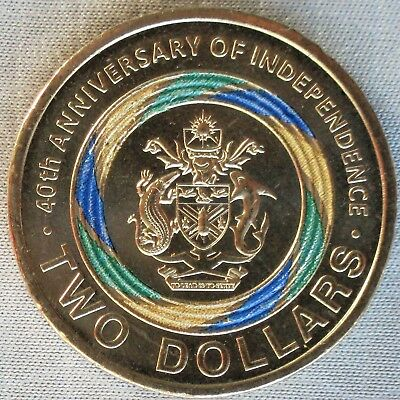 **NEW**SOLOMON ISLANDS_2 Dollars 2018_40th Anniversary of Independence_unc_lose