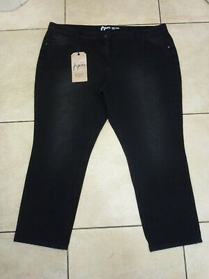 "NEXT Figure Relaxed Skinny Jeans Size 22 Uk Leg 29"" BNWT RRP £38.99 Washed Black"
