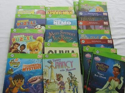 Lot of 17 Leap Frog TAG Reader Hard Cover Books