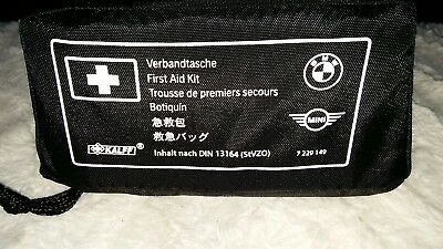 GENUINE OEM MINI (BMW) FIRST AID KIT REF 7229149 DIN 13164, Contents ex Nov 2022