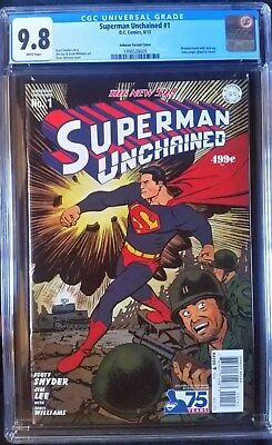Superman Unchained (2013 DC) #1 Johnson Golden Age Variant CGC 9.8 1:75