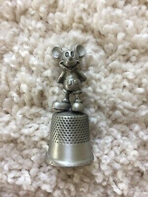 Collectible Pewter Disney Mickey Mouse Thimble