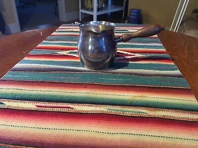 "Wallace Sterling Sliver Vintage 2 3/4"" Wood Handle sauce pot"