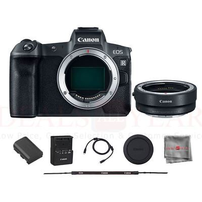 Canon EOS R Mirrorless Digital Camera (Body Only) with Mount Adapter EF-EOS R