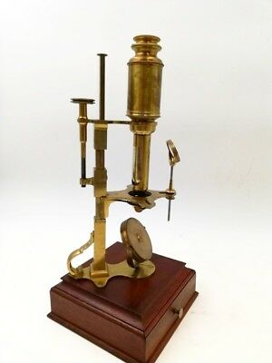 Brass Cuff-type Microscope, retailed by DOLLOND