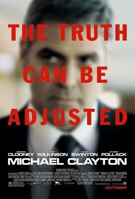 MICHAEL CLAYTON MOVIE POSTER 2 Sided ORIGINAL FINAL EXL 27x40 GEORGE CLOONEY