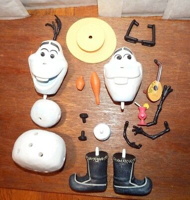 Disney Mix Em Up Frozen Olaf figure toy playset - like potato head -missing foot