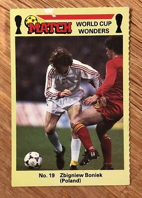 Zbigniew Boniek Match World Cup Wonders Football Trading Card Mexico 1986 Rare