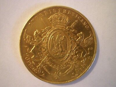 1866 Mexico 20 Pesos Maximiliano (Dollars) Gold Coin Rare