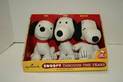 Hallmark Peanuts Snoopy Through The Years Plush Set of 3 NEW