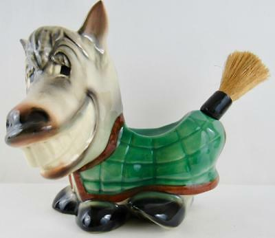 """McCOY"" POTTERY FOR ""SWANK"" HORSE / DONKEY MEN'S VALET & LINT BRUSH - EXCELLENT"
