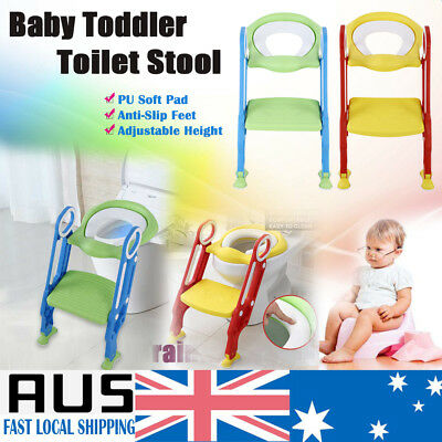 Kids Toddler Toilet Children Pee Training Potty Ladder Seat Chair Trainer Step