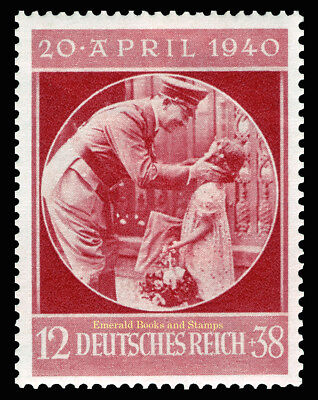 EBS Germany 1940 Hitler's 51st Birthday - Hitler with Child - Michel 744 MNH**