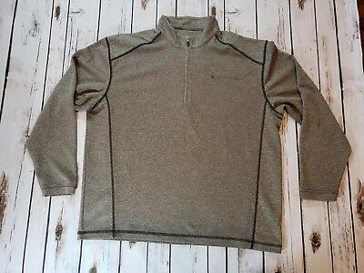BSA Boy Scouts Of America 1/4 Zip Gray Pullover Adult Size Large