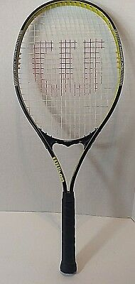Wilson Fusion XL V Matrix Black / Neon Yellow Oversize Tennis Racket - L3 4 3/8""