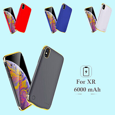 6000mAh iPhone XR Battery Case External Charger Charging Power Bank Cover
