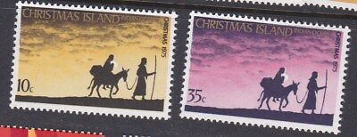 1975 CHRISTMAS ISLAND Christmas - Flight SET (2) MINT UNHINGED MUH