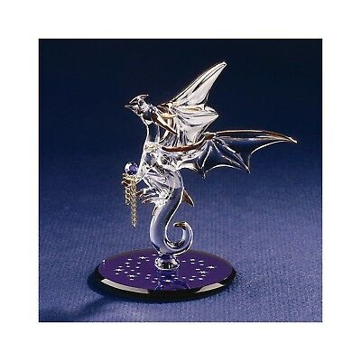 Glass Baron ~ Dragon with Stars Crystal Accented Glass Figurine   D3 993-B