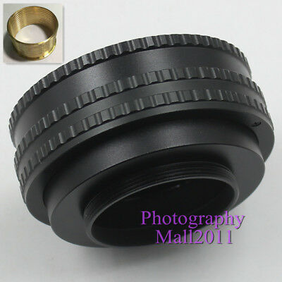 Brass M52 to M42 17-31mm Adjustable Focusing Helicoid Adapter Extension Tube