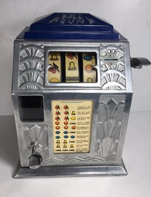 Vintage Buckley 1935 Gum Ball 1 Cent Coin Slot Machine (PARTS ONLY)