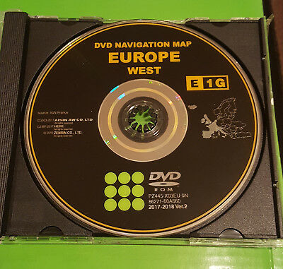 2017/18 Toyota & Lexus Sat Nav Disc UK&West Europe Latest E1G Map DVD Version 2