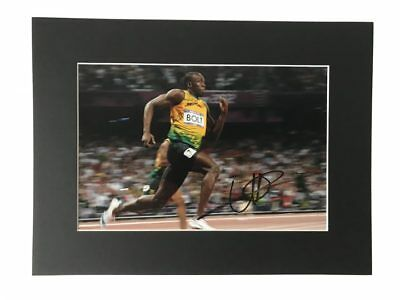 Usain Bolt Autographed Display - London 2012 Olympics - Gold Medal + *Coa*
