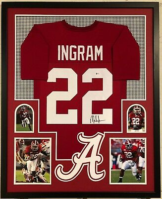 9890642b3 Framed Alabama Crimson Tide Mark Ingram Autographed Signed Jersey Beckett  Coa