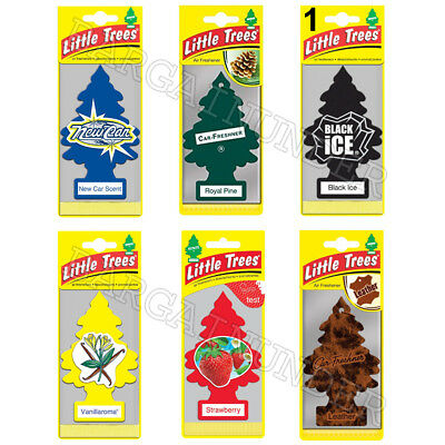 Little Trees Car Home Office Hanging Air Freshener Pick Your Scent 12PC Per Pack