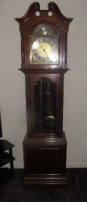 """ Light Oak Grandfather Clock "" Circa 1960  Large"