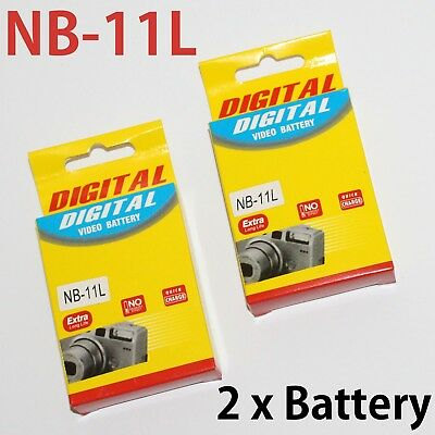 2x NB-11L 680mAh Rechargeable Battery for Canon IXUS 285 180 165 175 A4000 etc..