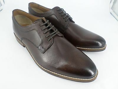 65419cc90ac4 ASOS Derby Shoes In Brown Leather With Emboss Detail UK 9.5 EU 44 LN16 46