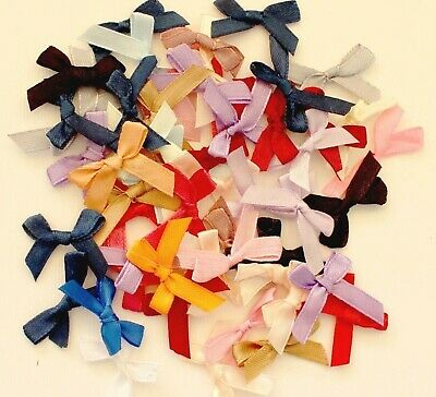 50 Mixed colours -  Budget 6mm Satin Bows