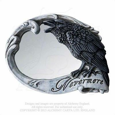 Alchemy Gothic - The Vault - Nevermore - Compact Mirror Poe Raven