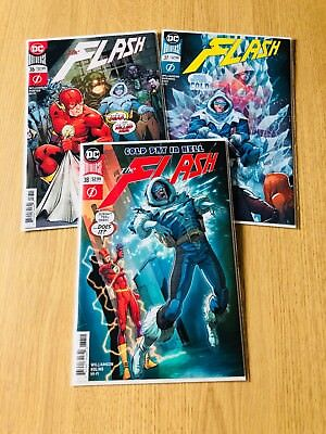 Flash #36 #37 #38 - A Cold Day in Hell Complete - DC - 1st - NM - B&B