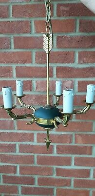 Antique French Empire Chandelier Arrow And Swan 5 Arms