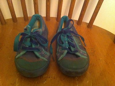 toddler boy's size McDonald's McKids sneakers Vintage Dark Blue Green shoes Rare